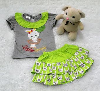Harga preferensial All Size 3-12 Bulan / Setelan Baju Rok Bayi Anak - Hollo