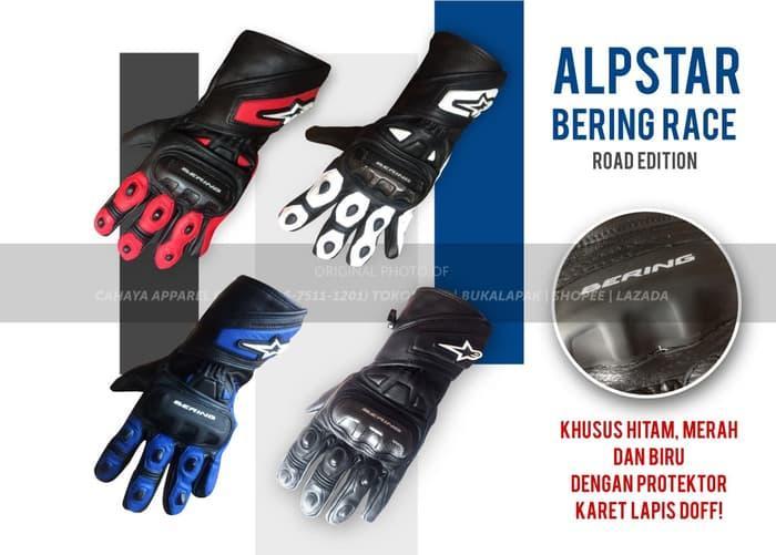 TERLARIS !! Sarung Tangan Motor Balap - ALPINESTAR BERING - Road Race Murah Keren