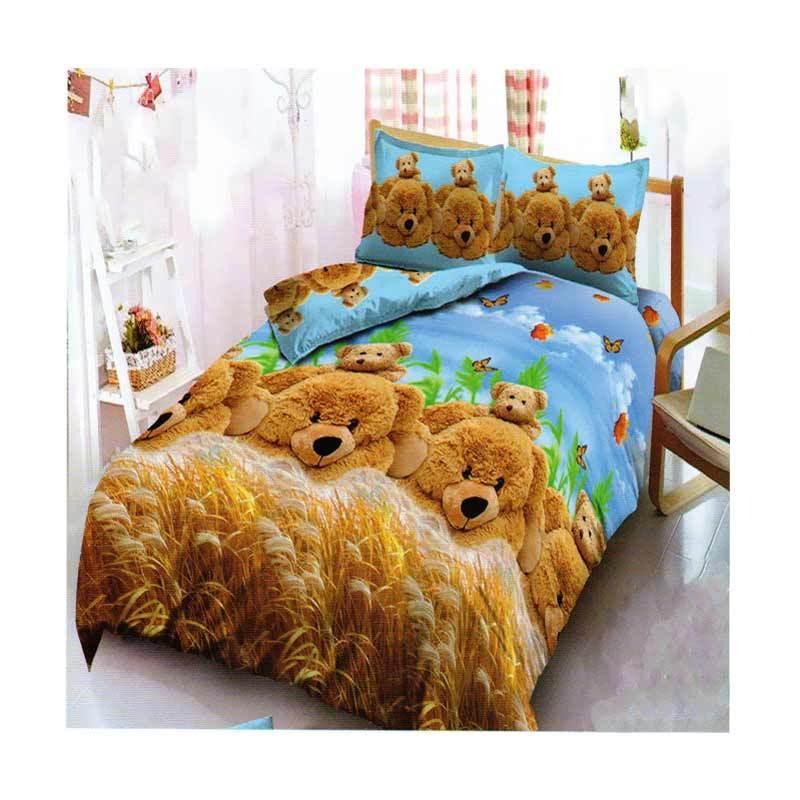 Kintakun D`Luxe Bed Cover Set Kids Edition Uk. 180x200 Motif - Golden Bear