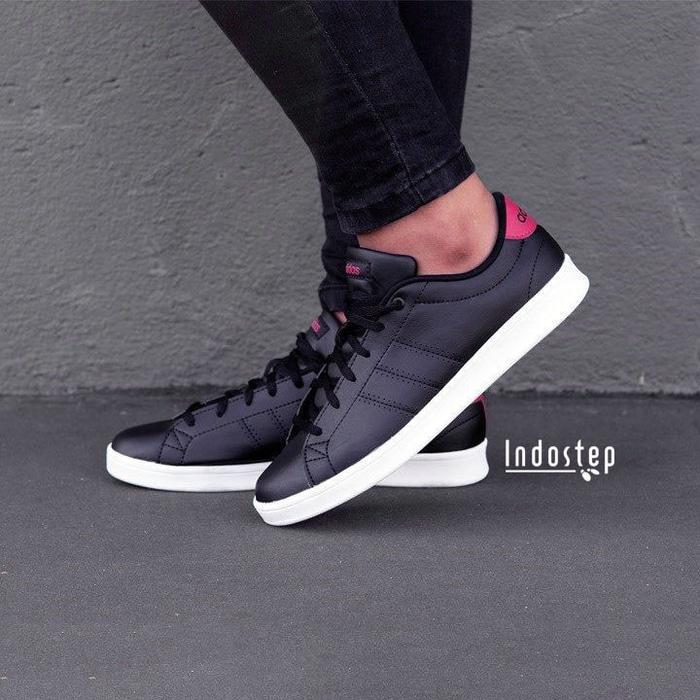 ASLI!!! Sepatu ORIGINAL Adidas Neo Advantage QT Black/Red - Hitam, 39 - CQ7cK6