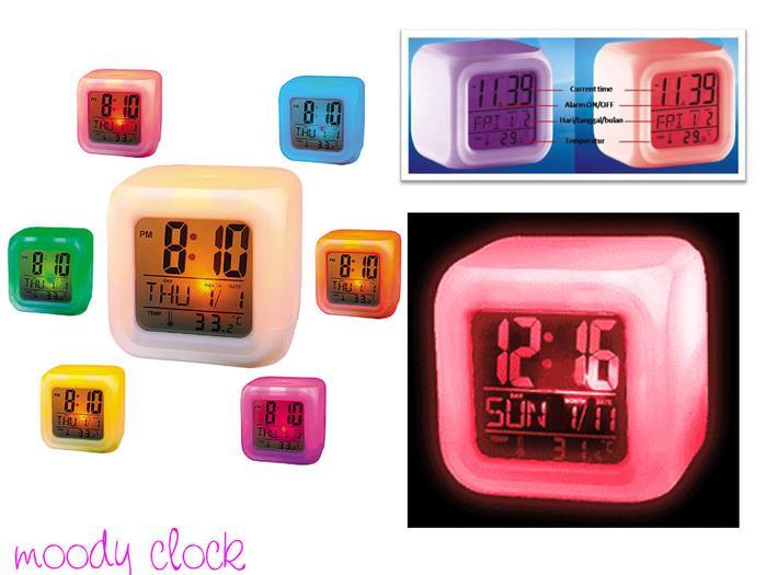 Jam Moody Kubus Berubah 7 Warna Moody Clock By Grosirkemeja.