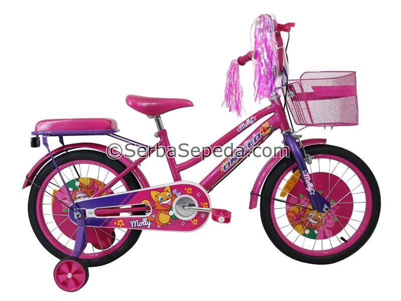 United Sepeda Anak Molly 18 - GRATIS ONGKIR & PERAKITAN KHUSUS JABODETABEK