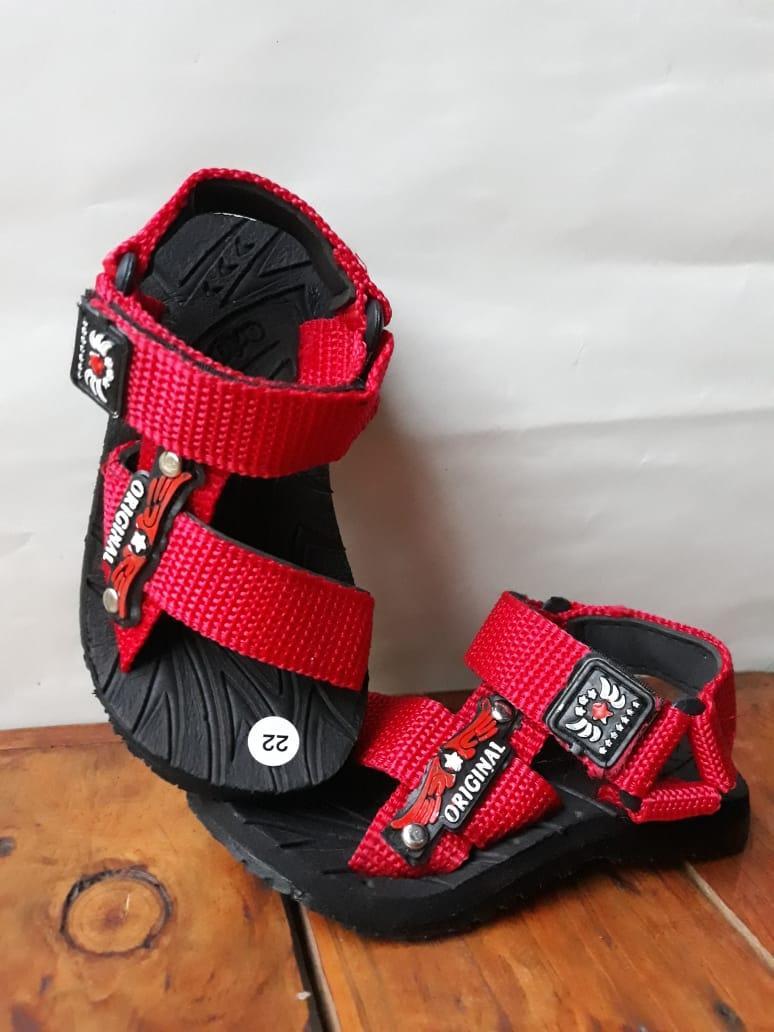 Sandal Anak -anak Sandal Gunung Anak Laki-laki - Sandal Balita - Sepatu Sandal Anak Model Gunung Lucu dan Elegan - Merah Size 22-35