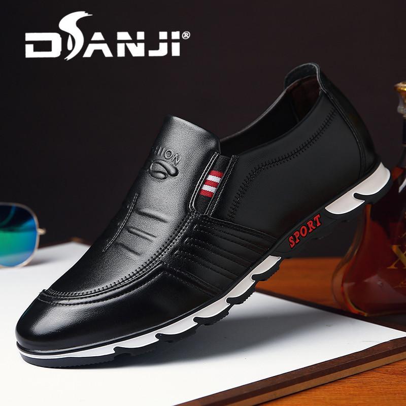 Danji Spring Pria Kulit Buatan Tangan Baru Sepatu 33683397dd