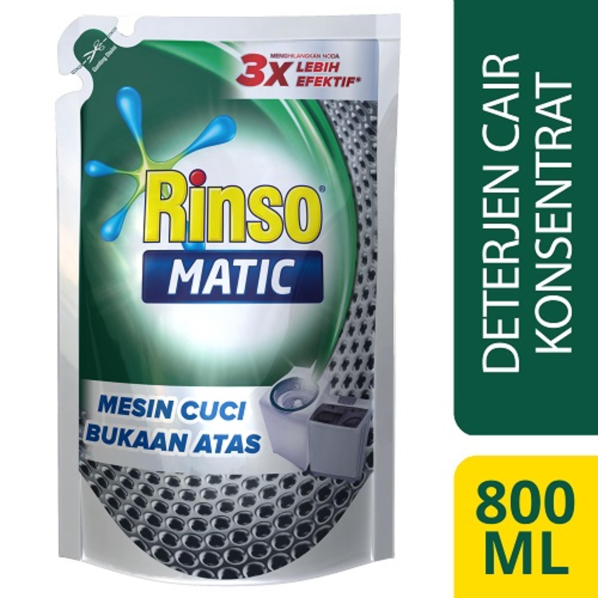 Rinso Matic Cair Mesin Cuci Bukaan Atas Pouch - 800 ml