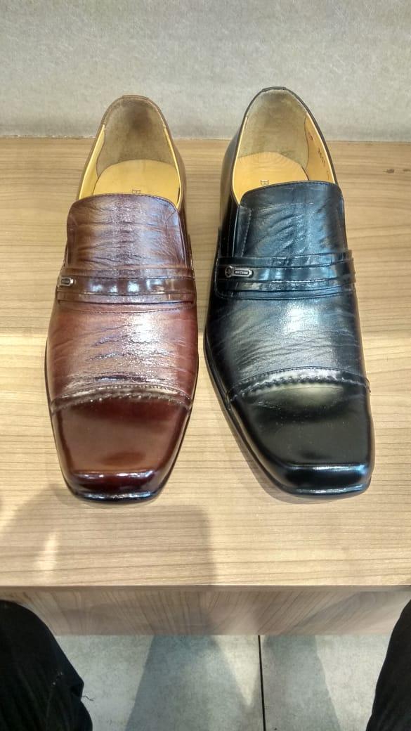 Sepatu Kantor Pria Kulit Asli 100% brand Buccheri Bukan Sintetis Tekstur Serat Kayu Pantofel Size