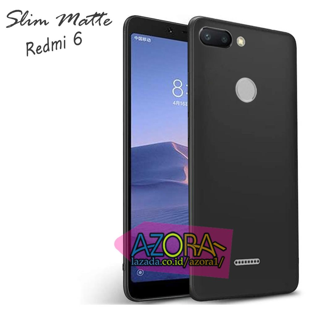 Case Slim Black Matte Xiaomi Redmi 6 2018 Finger Print Baby Skin Softcase Ultra Thin Jelly Silikon Babyskin