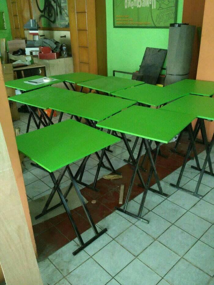 [ GARANSI 100 % ]    50x50 Meja Lipat cafe bazaar makanan rumah makan booth pameran sekolah  @ meja makan minimalis taplak lipat kayu jati bayi set lesehan set 4 kursi murah