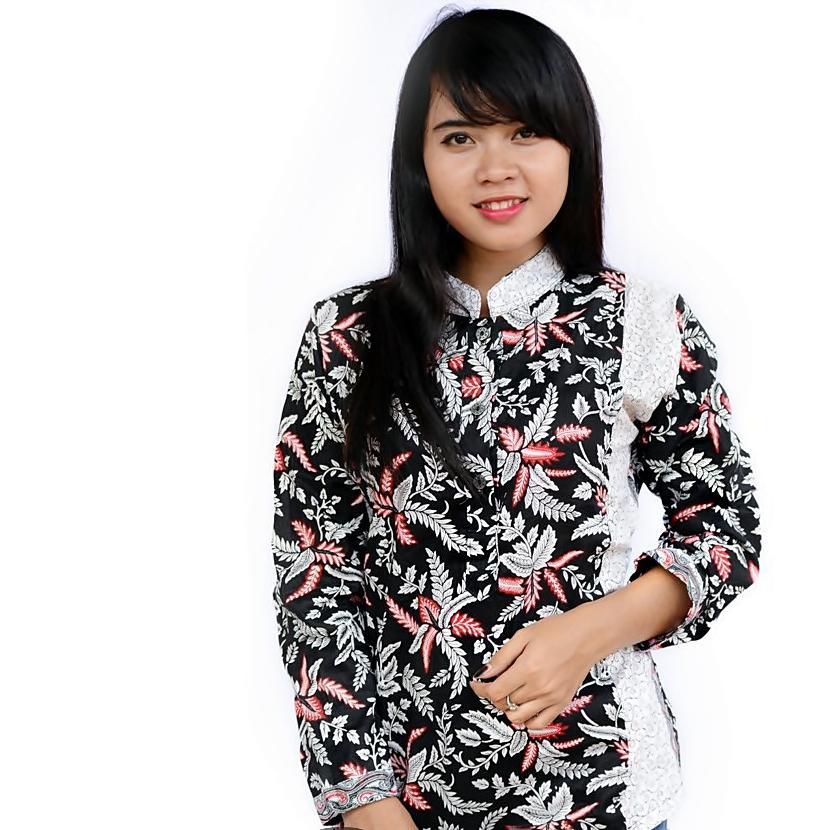 List Harga Baju Batik Wanita Kombinasi Kain Polos Atasan Terbaru