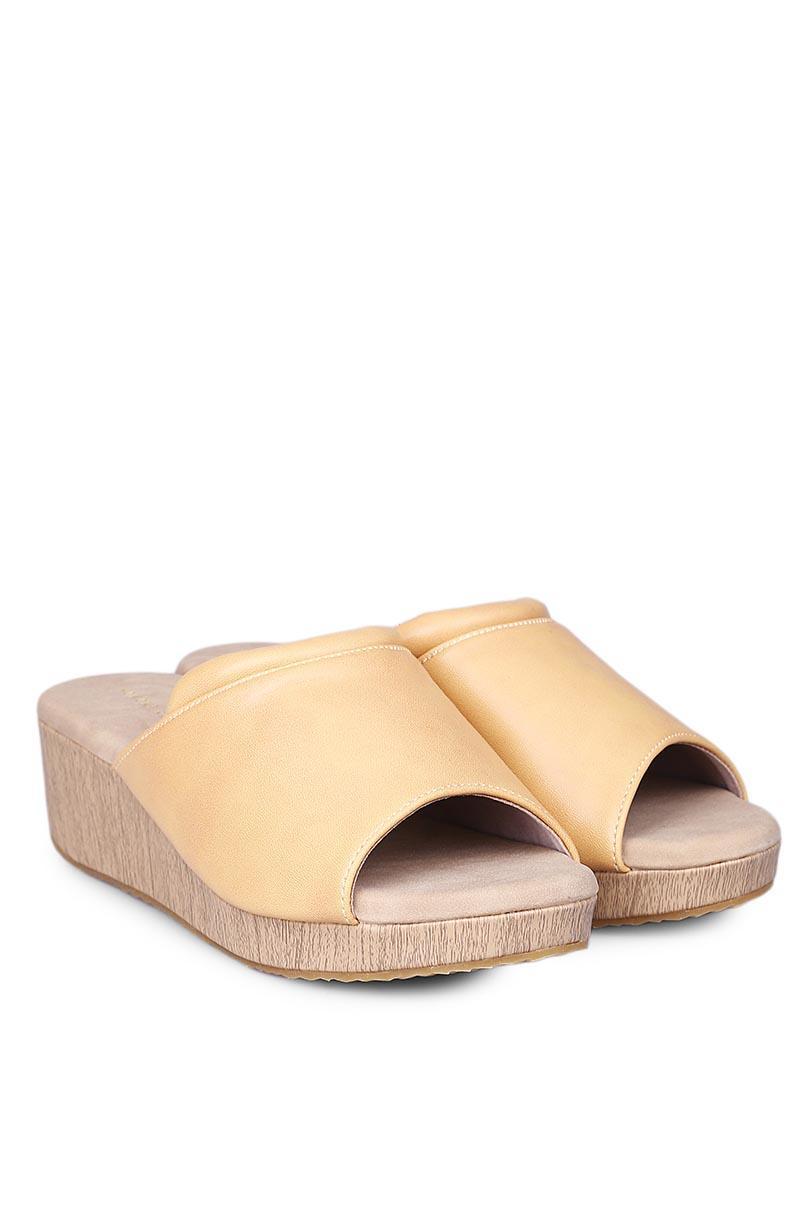 Yongki Komaladi Sandal Wedges Fashion Wanita Nayla Wedges Tan