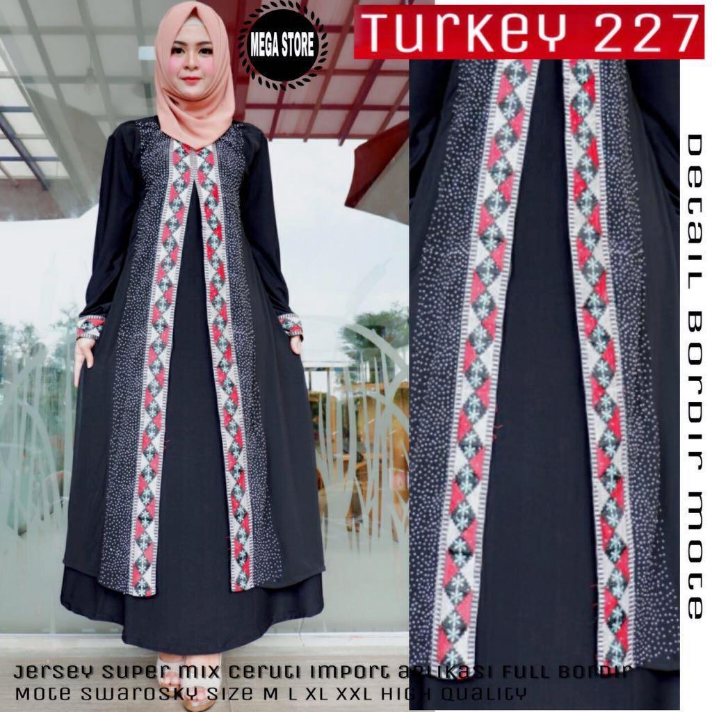 Gamis Turkey 227  Abaya Turkey 227 Bahan Jersey Super