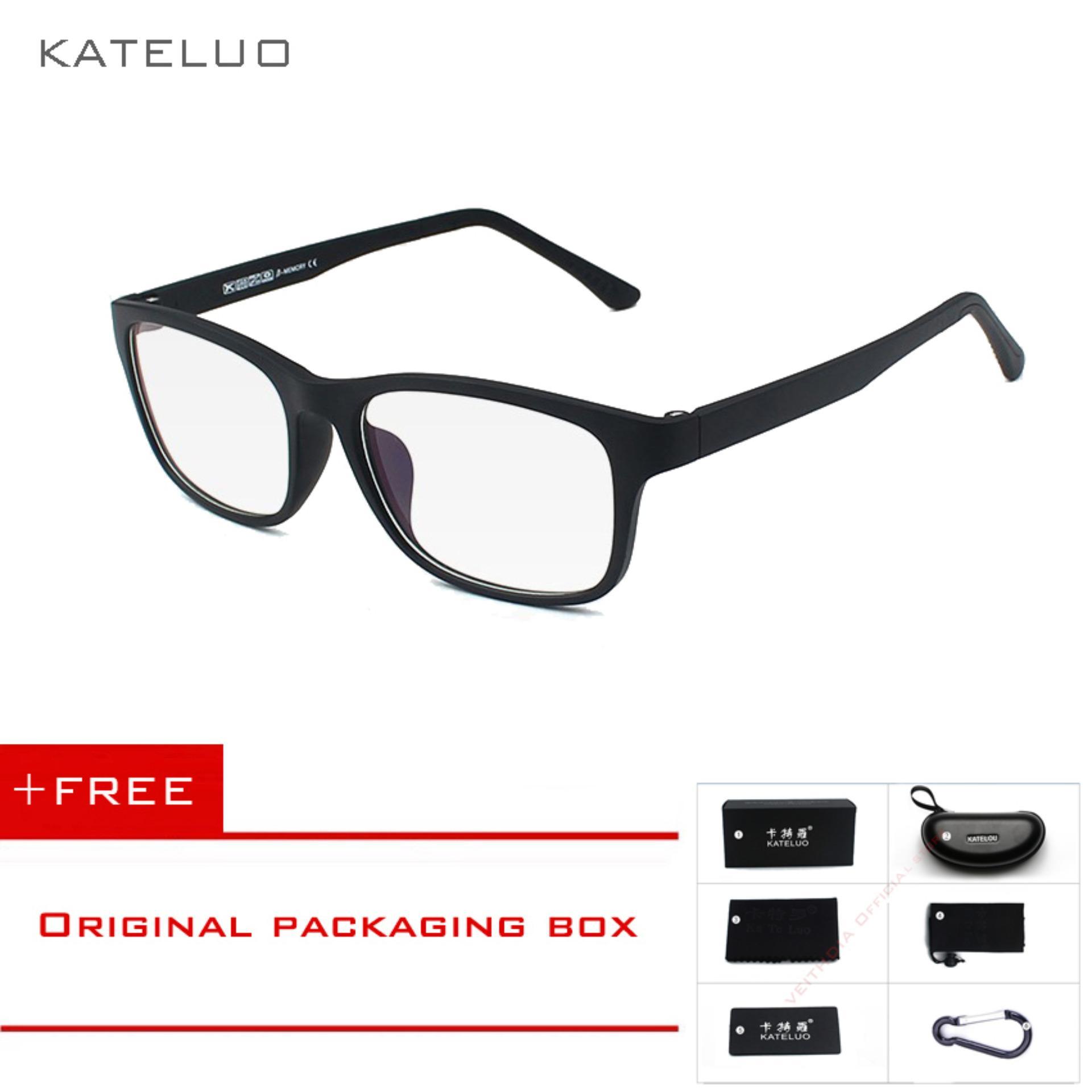 KATELUO Kacamata Anti Radiasi Warna Biru untuk Pria / Wanita 9219