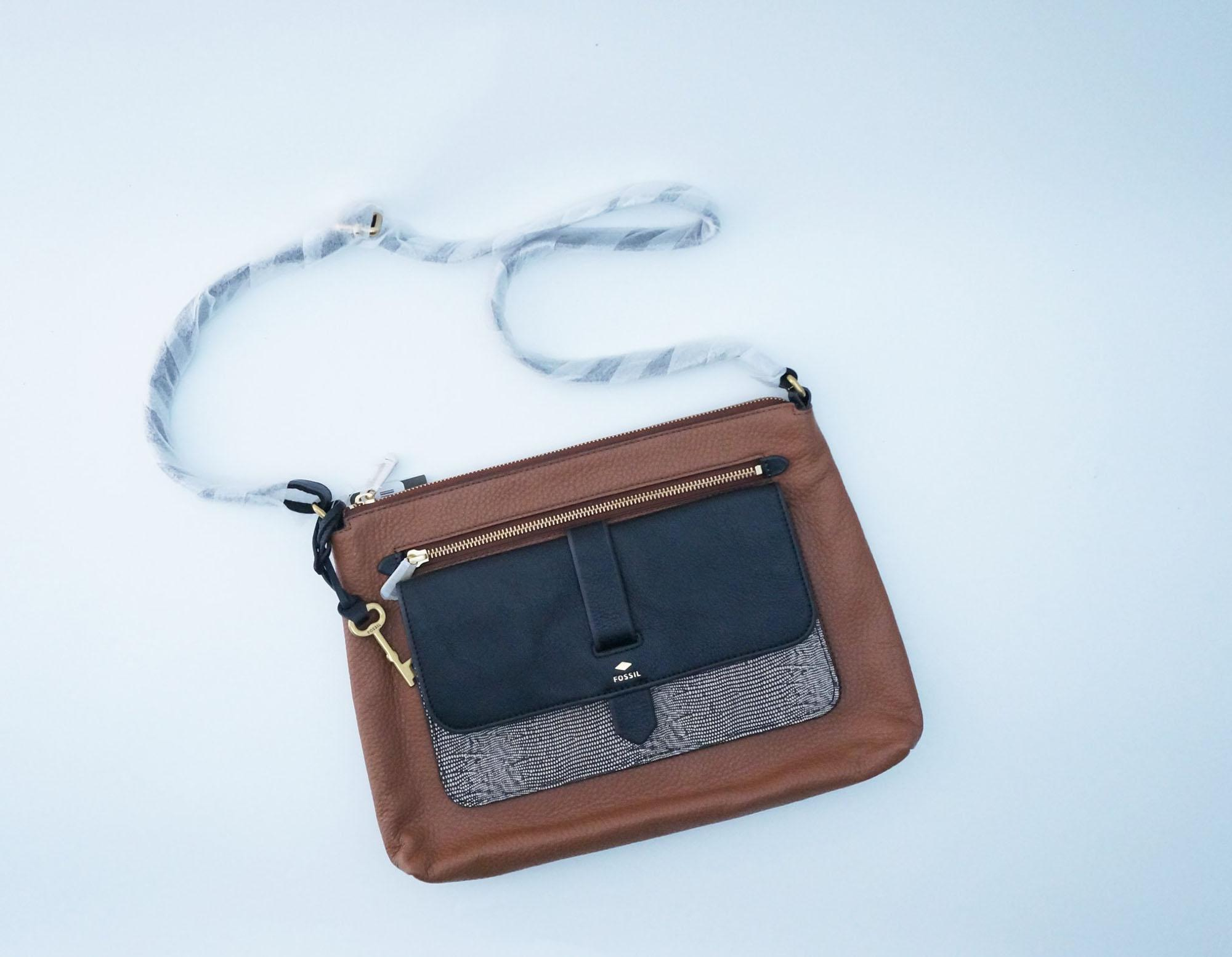 Buy Sell Cheapest Fossil Kinley Small Best Quality Product Deals Crossbody Brown