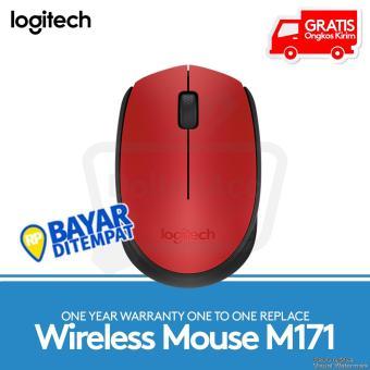 Logitech M171 Wireless Mouse - Merah