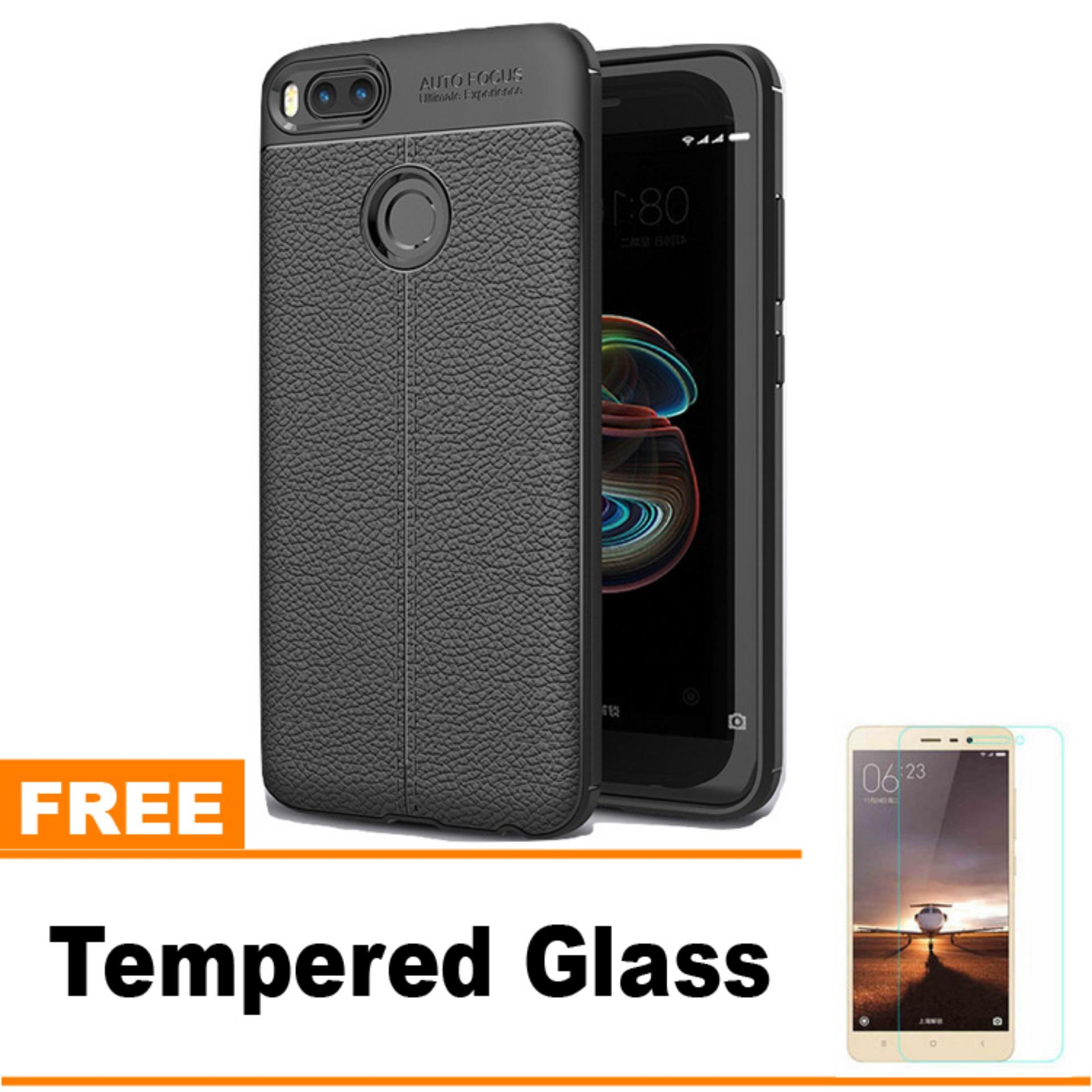 Original Lazada Case Auto Focus For Xiaomi 5X / A1 / Android One - Hitam - Hadiah Tempered Glass
