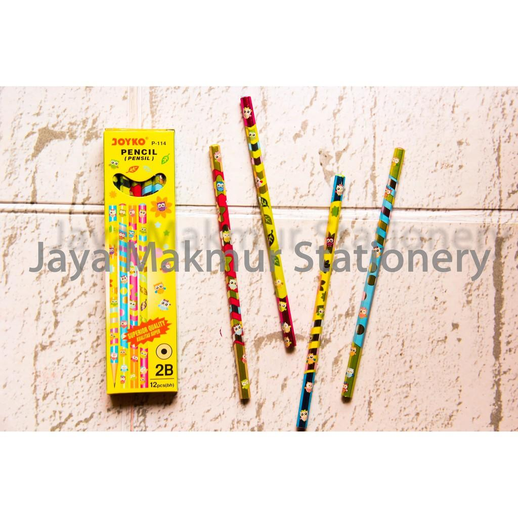Buy Sell Cheapest Pensil 2b Gambar Best Quality Product Deals Pensil2b Joyko P 114