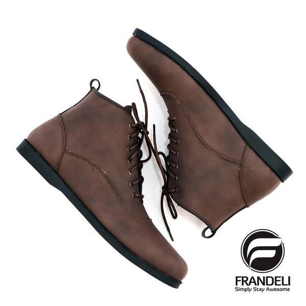 sepatu unisex - Sepatu Pria Boots Lace-Up Klasik Original, Kerja Cowok Leather Shoes Kulit Murah Pioneer