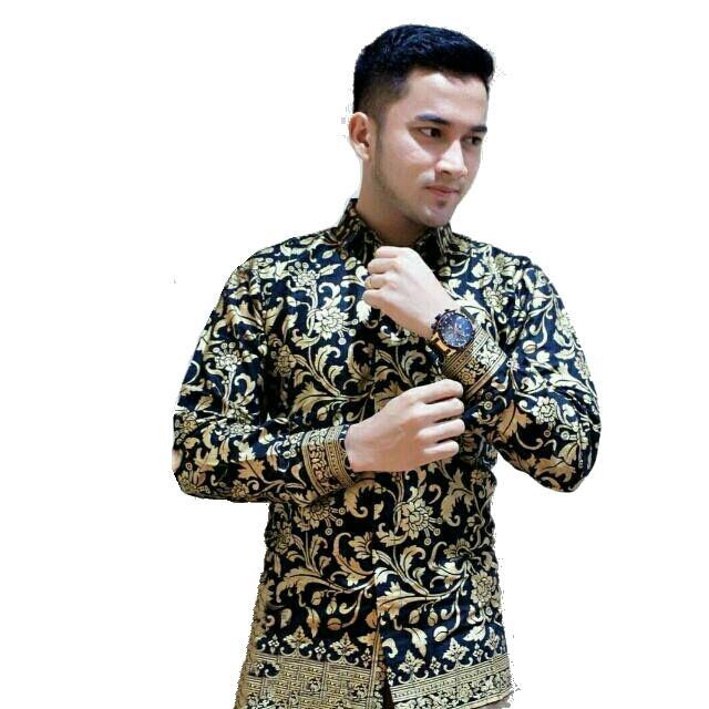 Model kemeja batik pria lengan panjang kemeja batik pria lengan panjang eksklusif kemeja batik pria lengan panjang terbaru Motif Arjuna