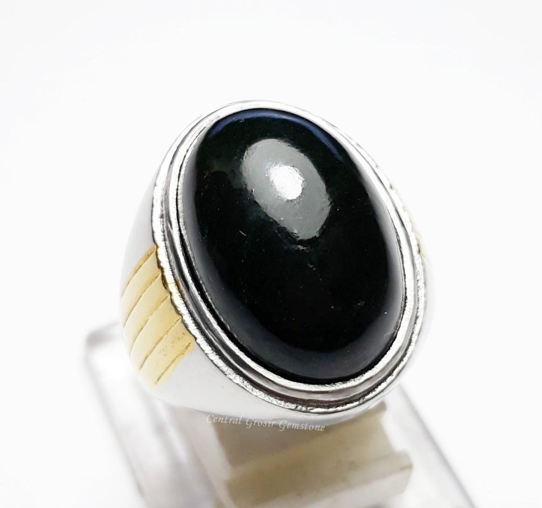 NEW PROMO Perhiasan Aksesoris BATU AKIK BLACK JADE GIOK HITAM PEKAT ASLI ORIGINAL FROM ACEH Murah