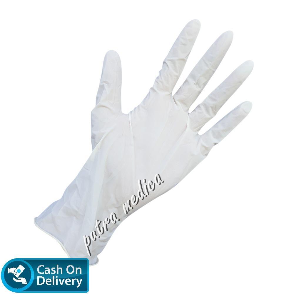 Putra Medica Protos Handscoon Disposable - S [Putih] / Sarung Tangan Karet Latex Non Steril Sekali Pakai / Handscon / Handskun