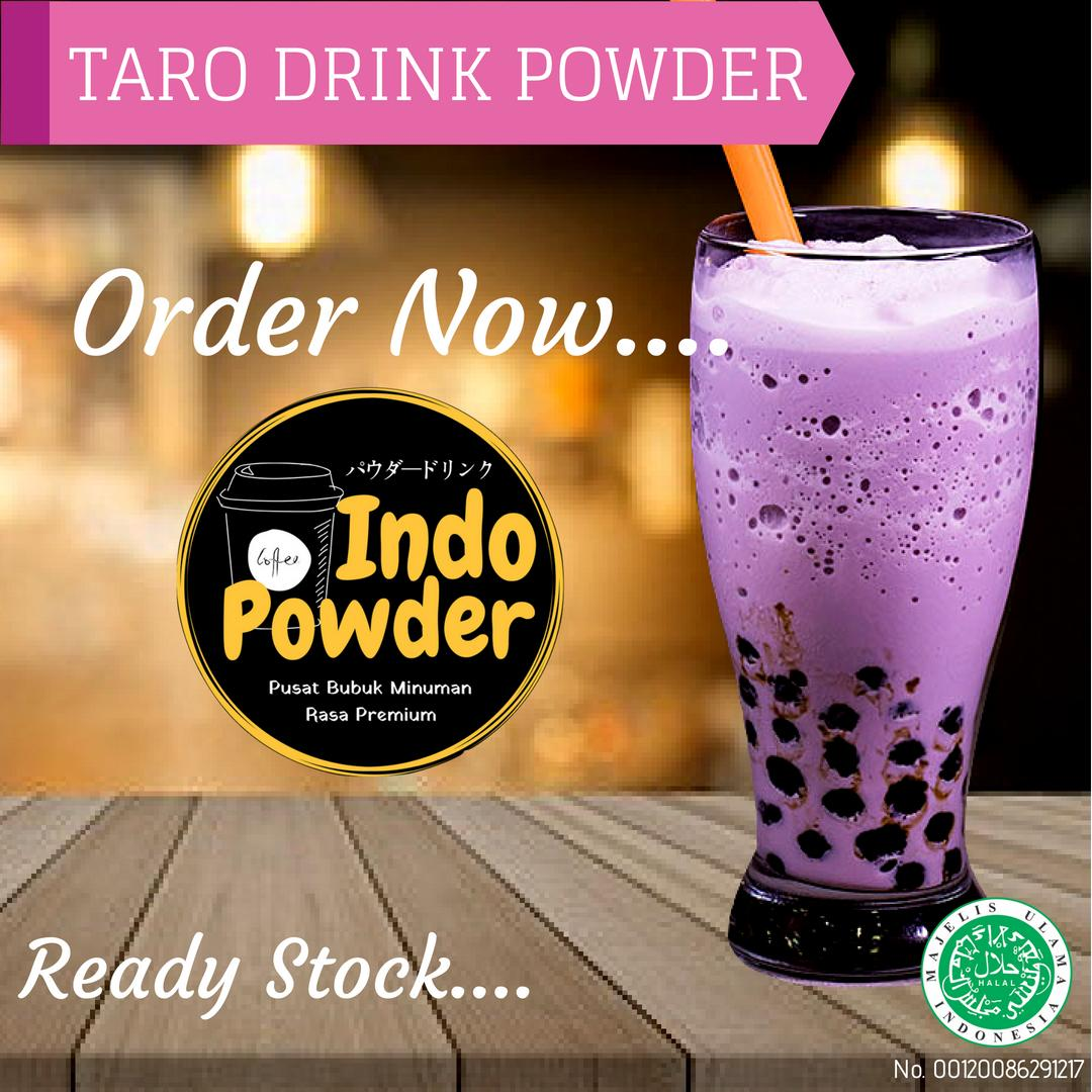 Taro Powder 1 Kg / Bubuk Minuman Rasa Taro 1 Kg / Bubuk Taro 1 Kg / Powder Taro 1 Kg / Bubuk Minuman Taro 1 Kg By Indopowder.