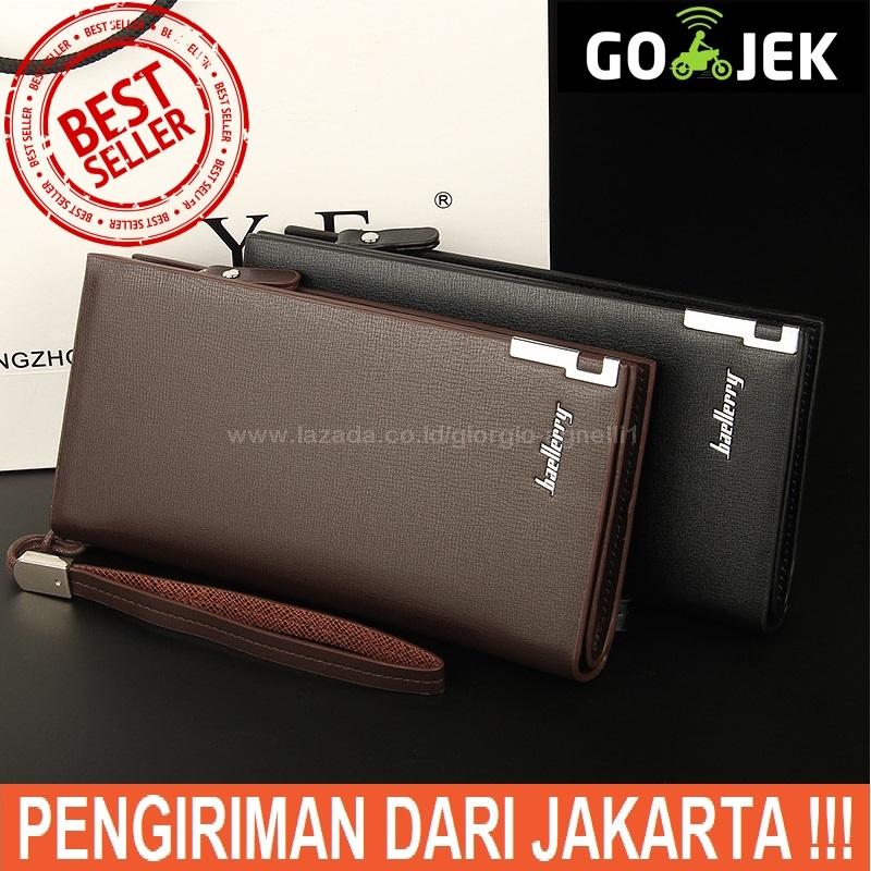 Baellerry - Dompet Kulit Pria Panjang - Long Man Sw Leather Wallet - Coklat - Hitam - Men Wallets By Giorgio Agnelli.