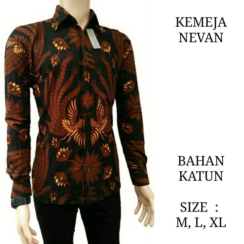 Baju Batik Casual Pria Lengan Pendek Katun Vi5 Merah Update Salt N Pepper Kemeja Snp 088 M Xl Nevan Kantor