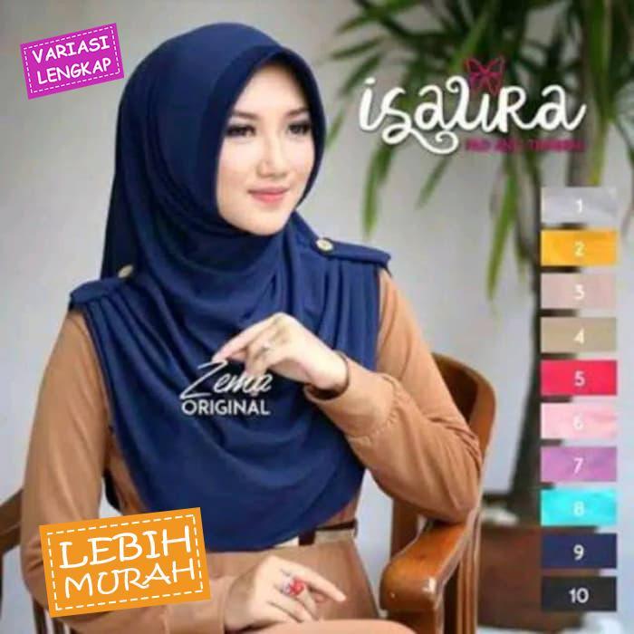 Hijab Isaura Instan / Hijab Instan Pinguin ||| Hijab Jilbab Khimar Instan