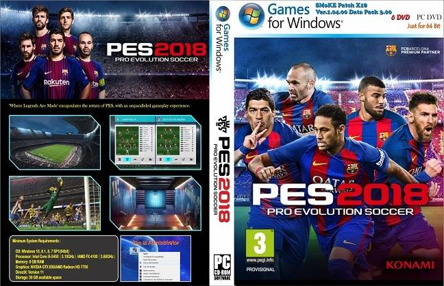 Pro Evolution Soccer 2018 (PES 2018) PC - Full Update 2018 - 2019