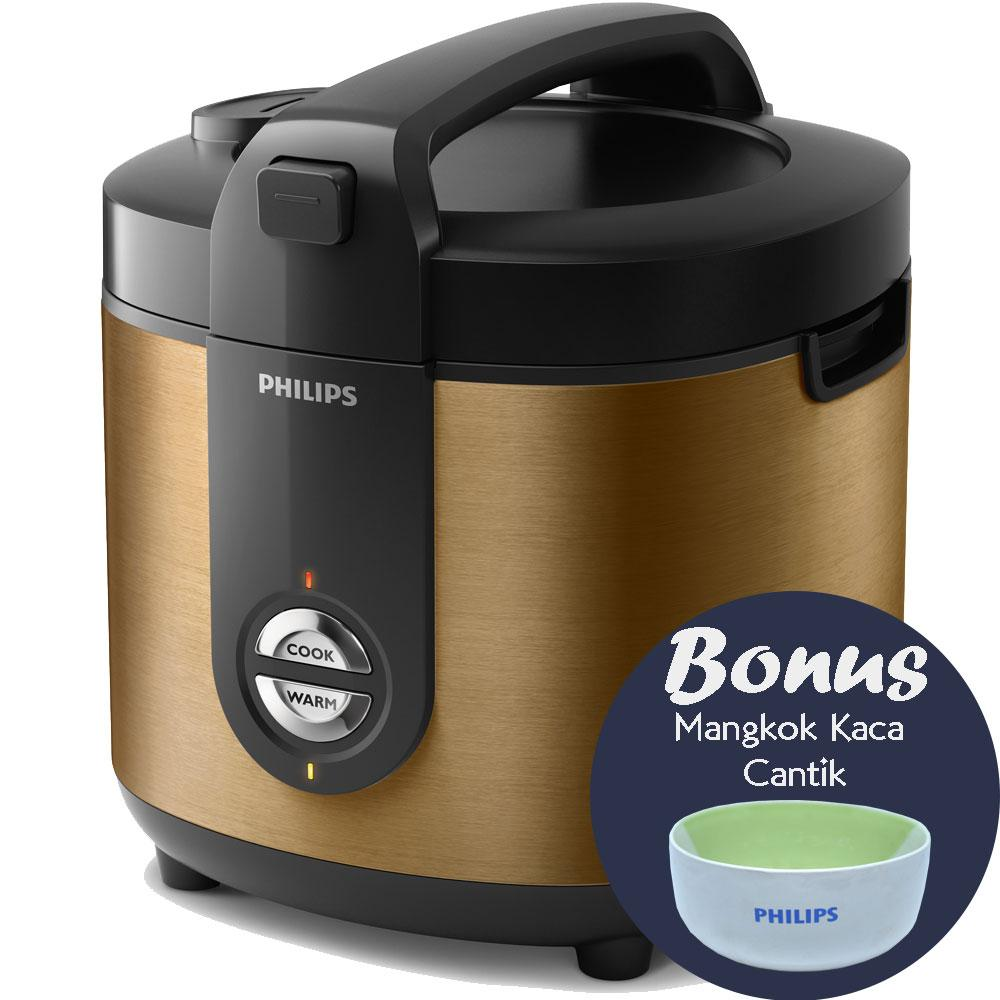 Philips HD3128/34 – Rice Cooker 2 Liter Gold ProCeramic