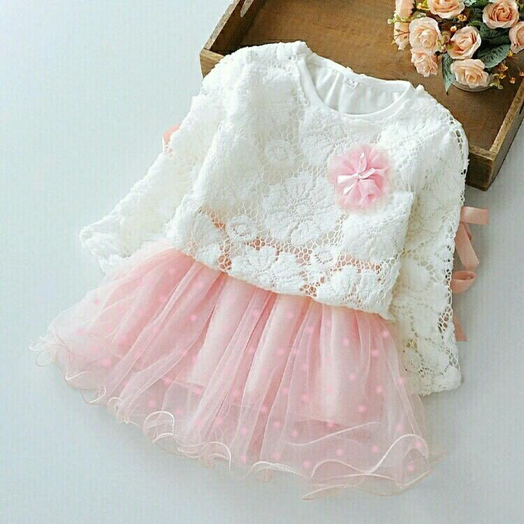 BT Kids Marry Set 2in1 Atasan lace import lapis furing Bunga Rok tile furing Fit 3-4th Baju anak kekinian
