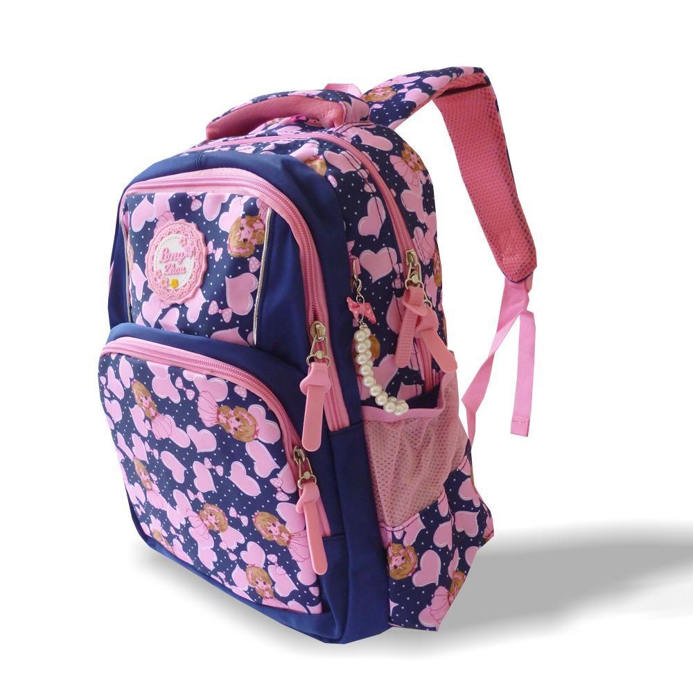 Tas Ransel Anak sekolah, cute Import Tas SD original import PG07231 Pink 16 inch colour full