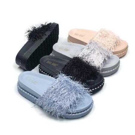 Sandal Selop Jelly Bara Bara - Sandal Kokop Rumbai Import BBJ28-8 Warna Dikirim Random