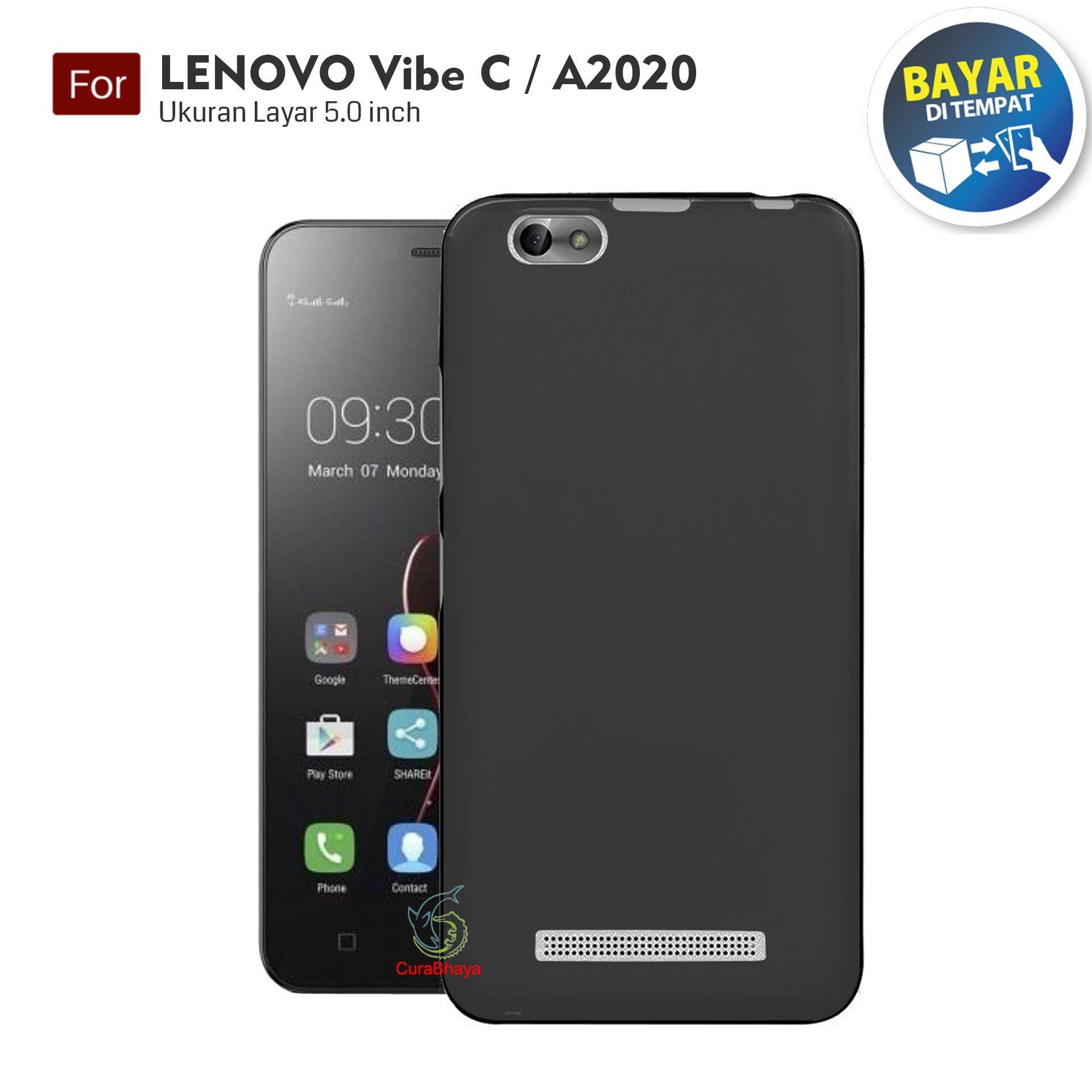 MidNight Lenovo Vibe C / A2020 | Slim Case Black Matte Softcase Premium Baby Skin -