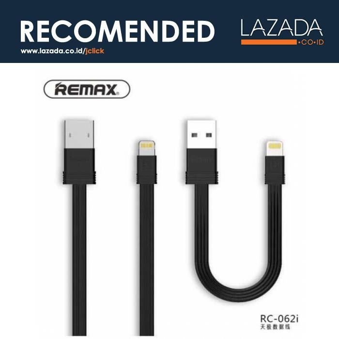 Remax Tengy 2 in 1 Lightning USB Cable - RC-062i - Warna Hitam