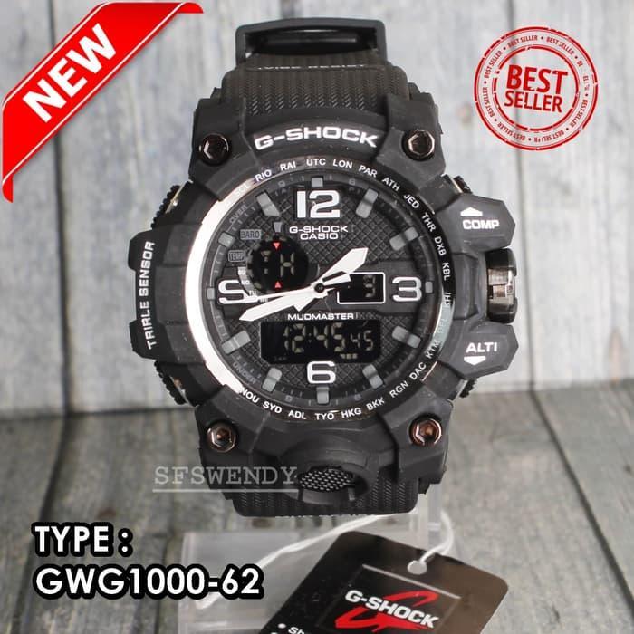 PROMO MURAH !!  Super Premium GWG-1000 Hitam Jam tangan digital SKMEI
