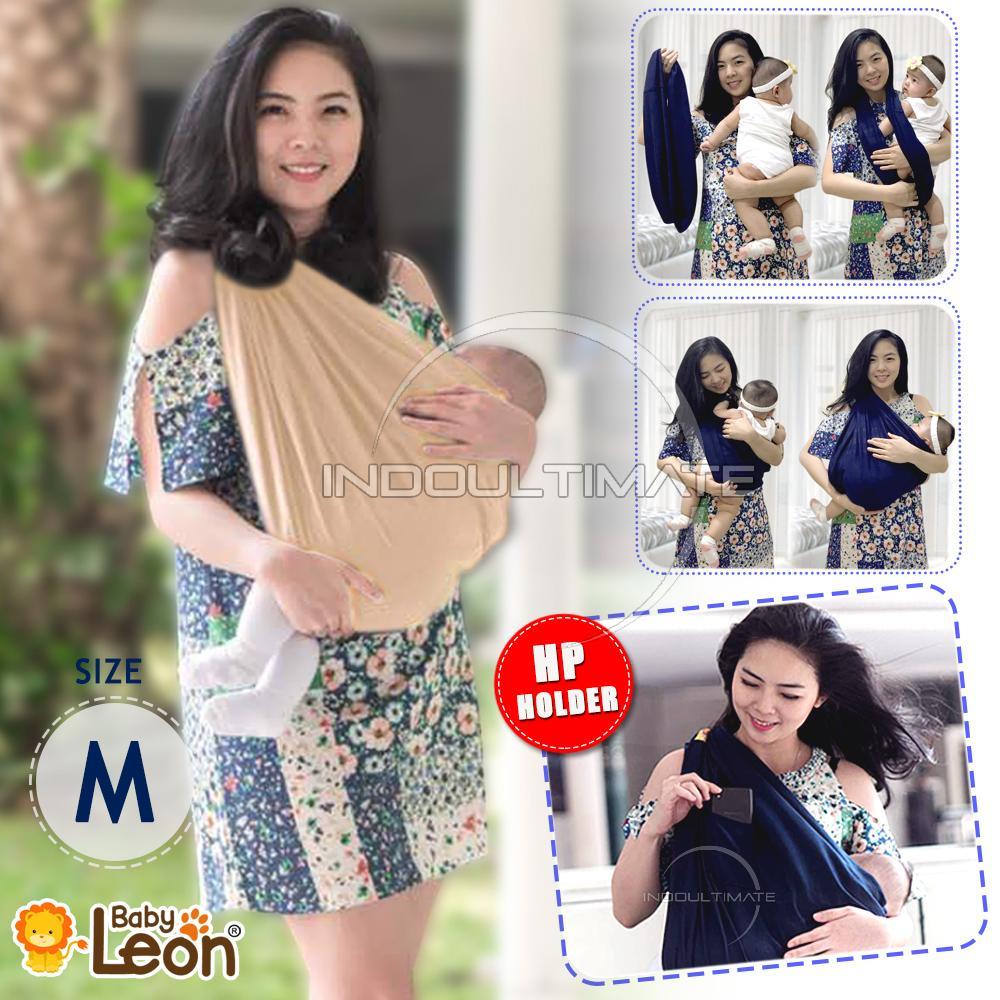BABY LEON Gendongan Bayi Kaos/Geos/selendang Bayi Praktis BY 44 GB Polos Ukuran M