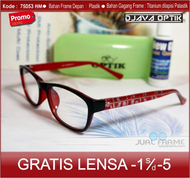 Frame Kacamata Korea 75043 Motif Bunga + Lensa anti radiasi   lensa minus    plus   083b21b4cc