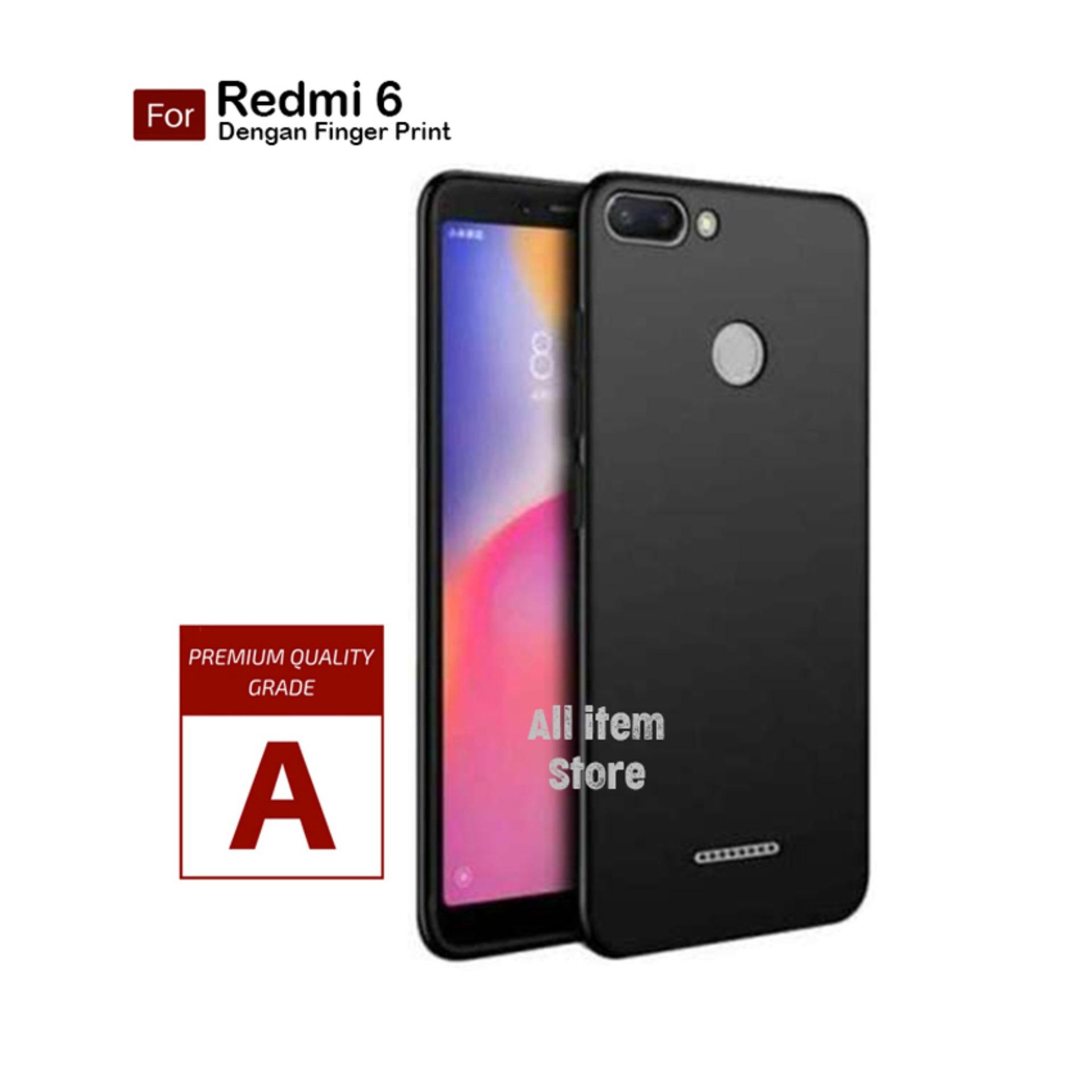 Case Slim Black Matte Xiaomi Redmi 6 Baby Skin Softcase Ultra Thin Jelly Silikon Babyskin - Hitam