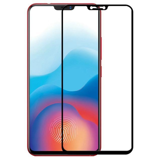 Candy Tempered Glass Vivo V9 Screen protector Frame (Black)