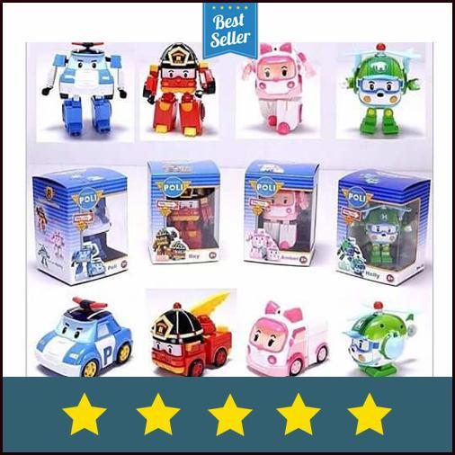 Best Seller Mainan Anak Robocar Poli Robocar Poli 1 Set isi 4 pcs Robocar Poli 4in1
