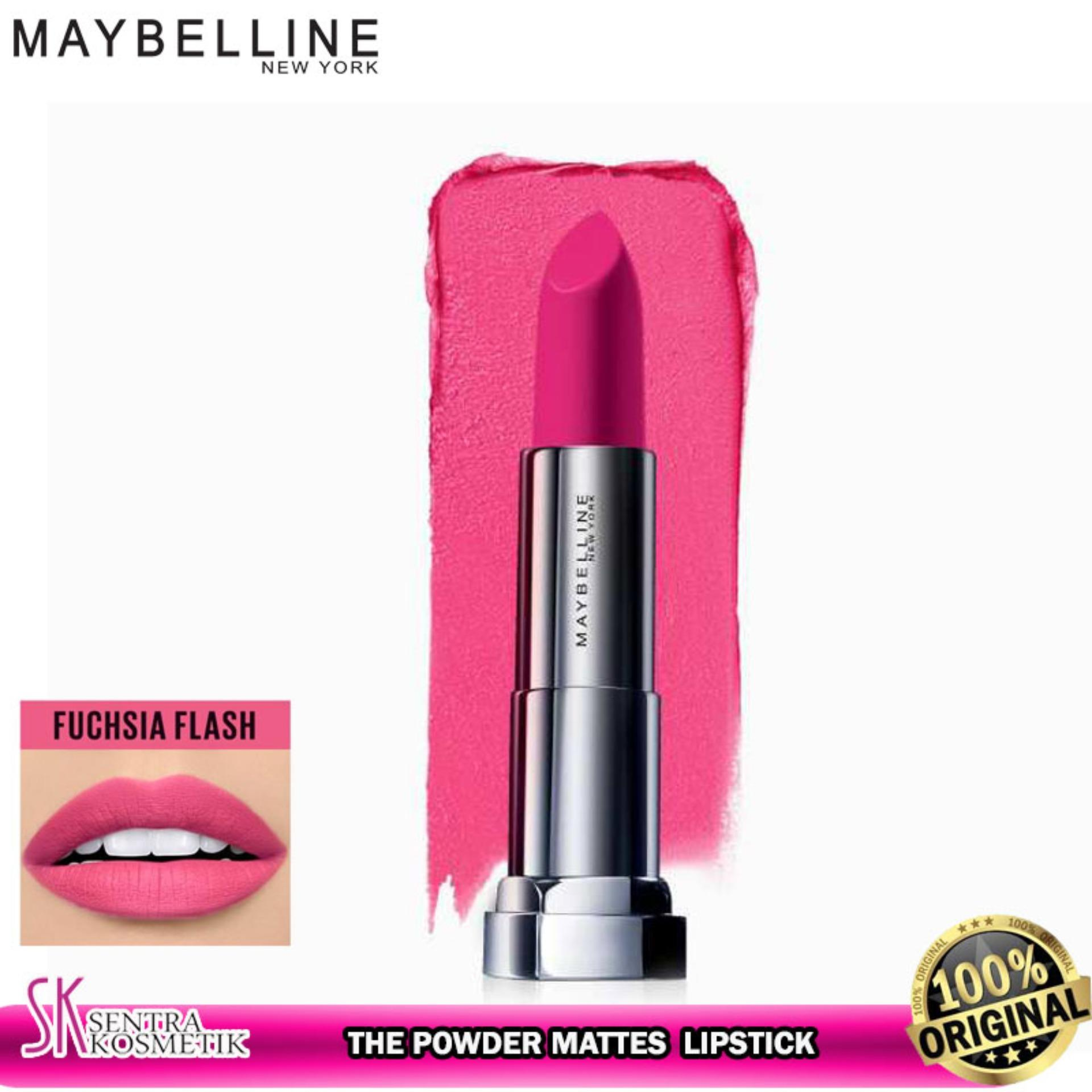 MAYBELLINE Color Sensational The Powder Mattes Lipstick - FUCHSIA FLASH