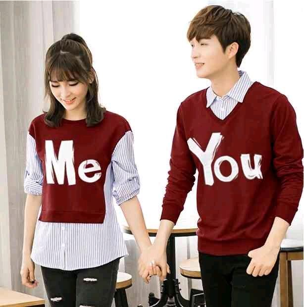 ... ACDC abu nevi hitam maroon Source · BAJU COUPLE KEMEJA PASANGAN BAJU PASANGAN BEST SELLER SWEATER ME & YOU WARNA MAROON