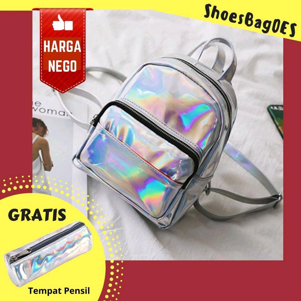 Shoesbagoes - Tas Ransel Wanita Mini Hologram