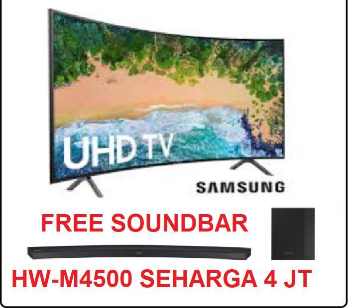 Led UHD 4K CURVED Tv 55Inch Samsung Type : 55NU7300 Free SoundBar (Khusus Medan)