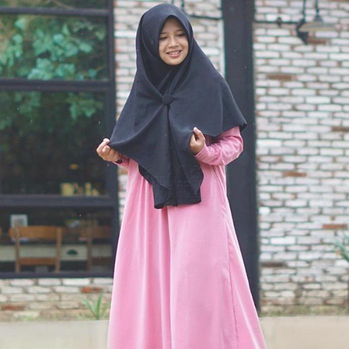 Khimar Syari Butterfly Jilbab Instan Kerudung Size L Hijab Alila A3464