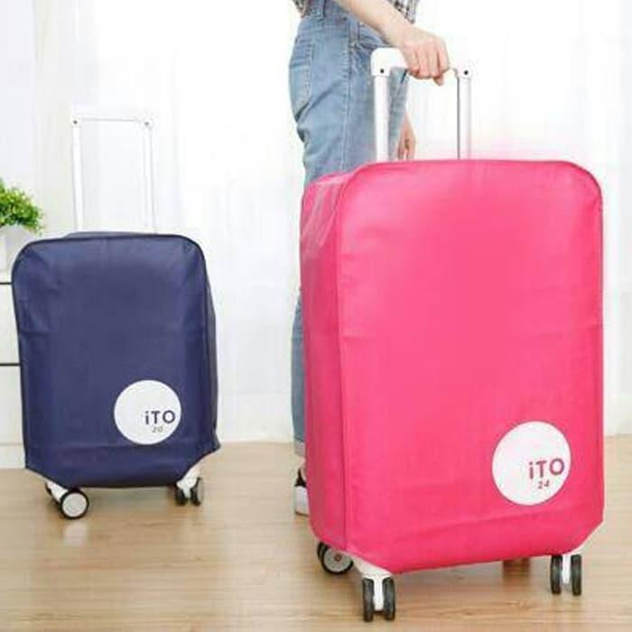 BEST SELLER!!! Sarung Cover Koper Travel Bag Trolley Pelindung Anti Gores 22 Inch