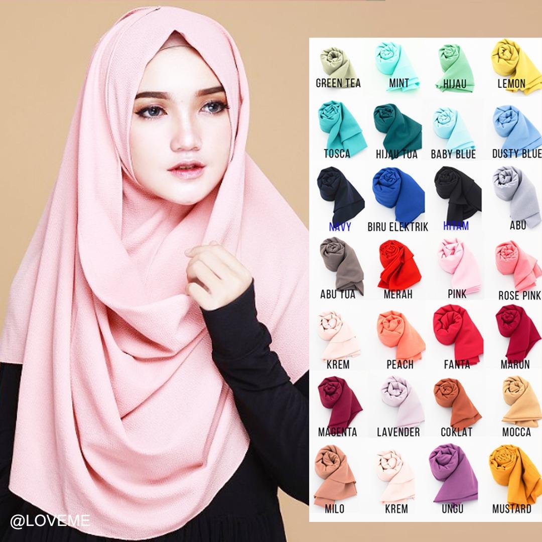 Loveme Hijab Instan Pastan Jilbab Instan Kerudung Pashmina Polos 1 Lubang