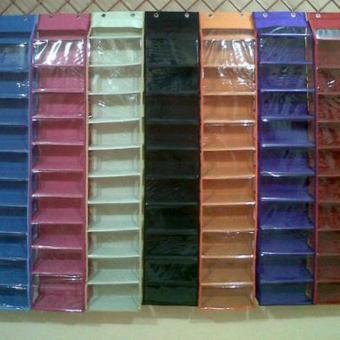 Harga preferensial Rak sepatu gantung retsleting hanging Shoes Organizer HSO RIPSTOK terbaik murah - Hanya Rp32