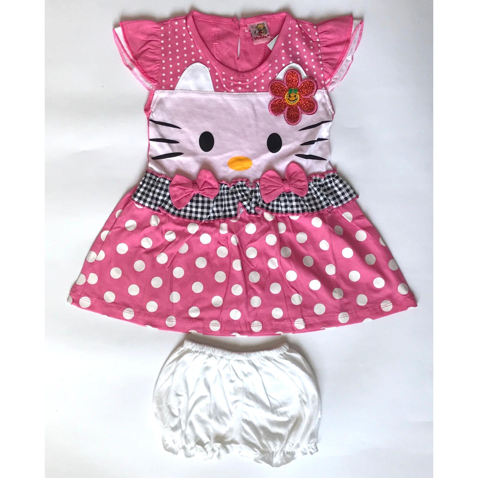 Cewek Toko Jualan Online Aman Dan Terpercaya Macbee Kids Baju Anak Piyama Kitty Sweet Cat Size 6 Abu Muda Bayie Setelan Bayi Dress Perempuan Motif Hello Yunisa Pakaian Umur